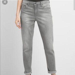 Gap grey high rise skinny girlfriend jeans 29